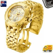New Invicta Mens Subaqua Watch Swiss Made 18k Gold Plated Steel Chrono 14471 Mel