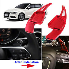 For Audi A3 2017 Car Aluminum Steering Wheel DSG Paddle Shifters Extension Red