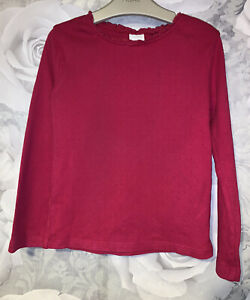 Girls Age 5-6 Years - Next Long Sleeved Pink Top