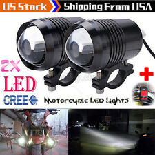 2x CREE U2 30W LED Motorcycle Headlight Driving Fog Light Spot Lamp +Free Switch