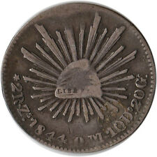 1844 (ZS) Mexico 2 Reales Silver Coin KM#374.12