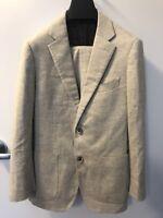 LNWoT $600 Suitsupply Havana Light Brown Herringbone Fully Lined Wool Suit: 38R