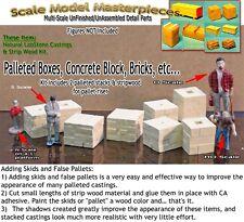 Palleted Boxes/Bricks-(8pcs) Scale Model Masterpieces HO Fine Craftsman Detail