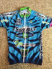 CAPO Full Zip Short Sleeve Cycling Jersey Blue Swammi's Beach Men's Large Kd1