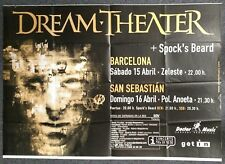 Dream Theater Metropolis 2000 SPAIN CONCERT POSTER Spock's Beard