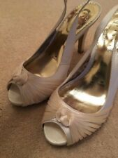 Debut Ivory Slingback Shoes - 5 Pre-owned