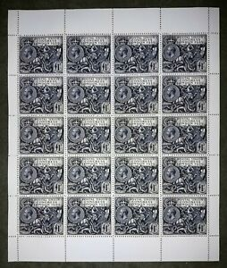 Great Britain.1929.Postal Union Congress. (REPRODUCTION.REPLICA.)SHEET/20 PCs.