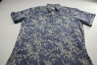 Cooke Street Honoululu Blue Floral Reverse Print CAMP SHIRT XL Extra Large