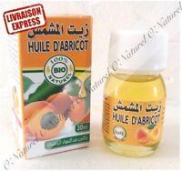 Huile d'Abricot BIO 100% Pure Naturelle 30ml Apricot Oil, Aceite de Albaricoque