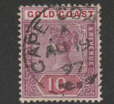 GOLD COAST -1889  SG23A  10/- FINE USED CAT £300