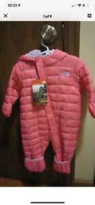 NEW- THE NORTH FACE (TNF) Infant Girls Thermoball Bunting Pink - Size 3-6 Months