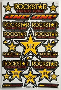 22 Rockstar Energy Drink Stickers Dirt Pit Bike MTB Motocross Helmet BMX Quad