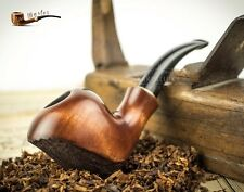 """HAND MADE  WOODEN  TOBACCO SMOKING PIPE   """" Wave """"   Pear Made by Artisan"""