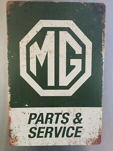 Retro Sign Motor Beer Garage Cave Bar Cafe Shed 30cm x 20cm MG PARTS & SERVICE