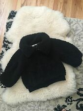 women's black jacket coat full lined fleece NWT purchased in Japan one size