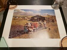 Vintage 1975 3M Company - New Land-Old Lithograph By John Falter - Free Shipping