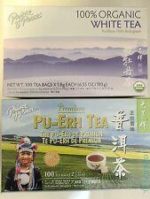 Prince of Peace - Pu-erh and Organic White Tea Combo (1 Pack of Each)