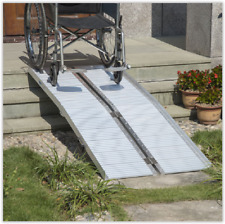 Portable Wheelchair Ramp 6ft Folding Disabled Mobility Scooter Access Ramp Stair