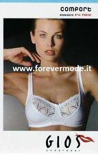 Reggiseno Donna GIOS senza ferretto in Microfibra-pizzo Foderato cotone Art 974 Nero 2
