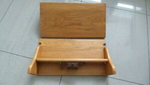 A Pair of rare Ercol Elm Windsor Shelves in Blonde with Lights + Fixings