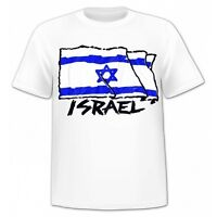 Israel flag modern logo 100% cotton star of David T shirt adult unisex all sizes