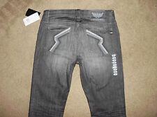 ROCK & REPUBLIC Men's NWT 32 x 34 COLBURG Black Myst Straight Skinny Slim Jeans