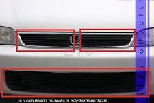 GTG 1994 - 1997 Honda Accord 3PC Gloss Black Overlay Combo Billet Grille Kit