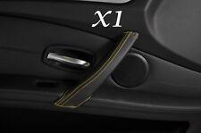 YELLOW STITCH FITS BMW  E60 E61 07-11 FACELIFT 1X PASSENGER DOOR HANDLE COVER