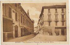 SCHIO - VIA CARDUCCI E PALAZZO DEI CONTI DA SCHIO (VICENZA) 1933