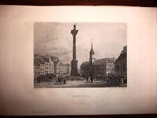 POLONIA,VARSAVIA, acciaio originale meta' XIX secolo,F.CHARDON