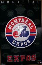 1994 Montreal Expos Baseball Logo Poster Vintage