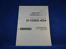 Luxman D-103 D-404 Service Manual