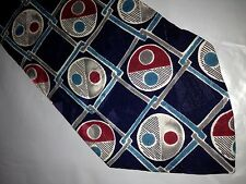 57 x 4 Blue Red Green Silk Tie Necktie Lord & Taylor ~(899)  Free U.S. Shipping