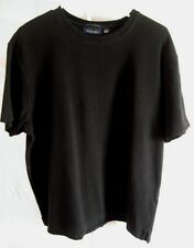 Regular Size Large Club Room  Black Knit Shirt  Short Sleeve  Pima Cotton
