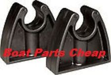"""NEW Boat Marine Rubber Storage Clip For Stern Light, Gaff, Mop More 3/4""""  2 Pack"""