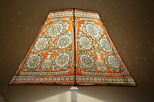 Large Lamp shade, Floor Lampshade Hexagonal, Lamp shade, Floral Pattern Lampshad