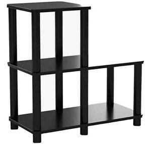 Furinno Turn-N-Tube Accent Decorative Shelf, Espresso/Black