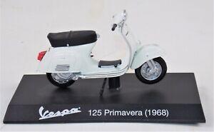 """1968 VESPA 125 PRIMAVERA WHITE PIAGGIO VINTAGE SCOOTER L=4"""" 100mm SCALE 1:18"""