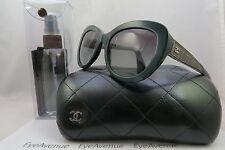 Chanel 5346 c.1459/S6 Green/Gunmetal New Authentic Sunglasses 55mm w/Case