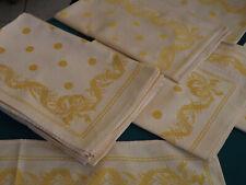 12 serviettes, damas de lin fin