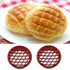 Lattice Pineapple Bun Mold Bread Cake Mould Cutter DIY Kitchen Baking Tool Red