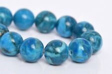 """10MM Natural Blue Turquoise Grade A Round Gemstone Loose Beads 7.5"""""""