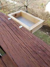 Small Cedar Platform Bird Feeder for Deck or Window