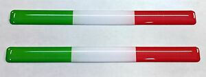 3D Domed Flag Stickers Italy Tricolore for Bumper Motorcycle Helmet Laptop