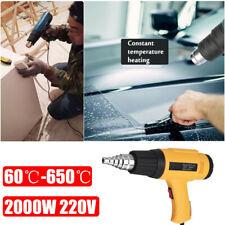 2000w Heißluft Heißluftgebläse verstellbar Heizung Elektro Werkzeug + Düse Power...