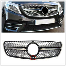 Front Grille Grill For Mercedes Benz V class W447 2015-2018 Diamond W/ Camera UK