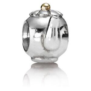 Pandora Sterling Silver & 14k Tea Pot Charm #790250