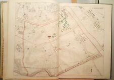 Paris XIII ème - Baron Haussmann Très Rare Plan de 1868 au 1/5000 (63x89 cms)