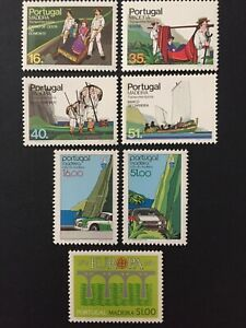 Portugal 1984 - Madeira stamps - Typical Transports, Rally, Europa Bridges MNH