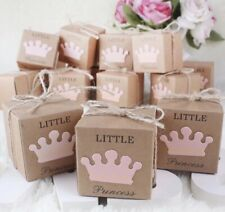 25pcs Little Princess Party Favor Boxes Baby Shower Gift Boxes